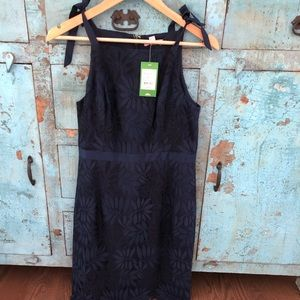 Lilly Pulitzer Kayleigh Shift navy lace dress sz 8